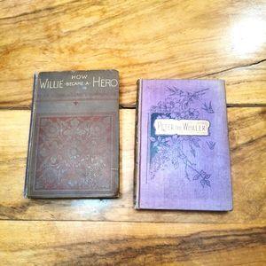 2 hard cover late 1800 books